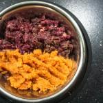 Rinderherz mit pürierten Möhren und Lachsöl
